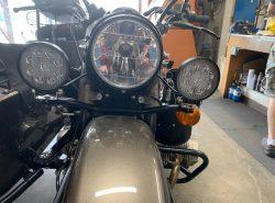 """Ural Black """"Dresser"""" Spotlight Bar With Black LED SPOT LIGHTS (PN10236)"""
