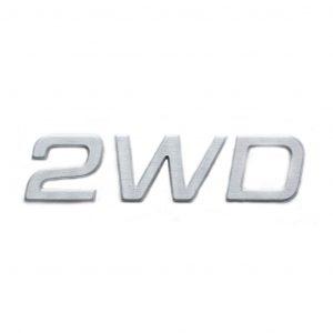 2WD Aluminum Badge   Part No. 10227.004