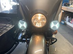 "Ural Black ""Dresser"" Spotlight Bar With Black LED SPOT LIGHTS AND BUILT IN RUNNING LIGHTS (PN10236-R)"