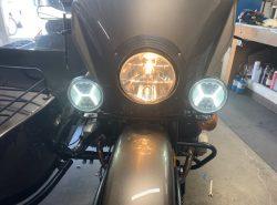"Ural Black ""Dresser"" Spotlight Bar With Black LED SPOT LIGHTS AND BUILT IN RUNNING LIGHTS (PN10236-R)"