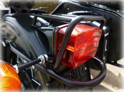 PROTECTIVE BRACKET FOR MOTORCYCLE REAR LIGHT, BLACK
